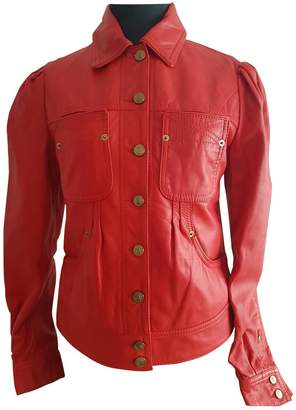 Galliano \N Red Leather Leather Jacket for Women