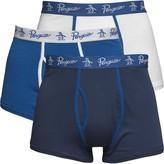 Original Penguin Mens Three Pack Boxers Dark Denim/White/Snorkel Blue