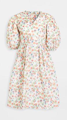 Tory Burch Tafetta Printed Sleeve Dress