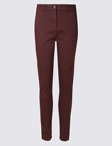 M&S Collection Cotton Rich Skinny Leg Trousers