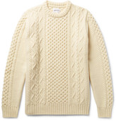 Norse Projects Arild Slim-fit Cable-knit Wool Sweater - Off-white