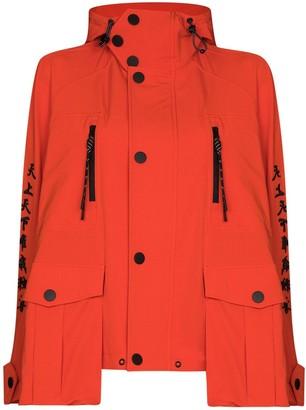 Angel Chen Embroidered Motifs Hooded Windbreaker Jacket