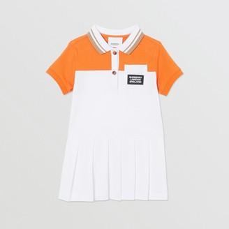 Burberry Childrens Colour Block Cotton Polo Shirt Dress