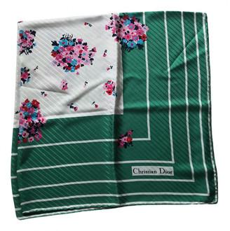 Christian Dior Green Silk Scarves