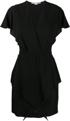 Stella McCartney V-neck frilled mini dress