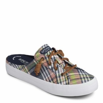 Sperry Women's Crest Vibe Mule Washed Plaid Shoe