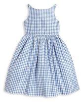 Ralph Lauren Toddler's & Little Girl's Gingham Silk Fit-&-Flare Dress
