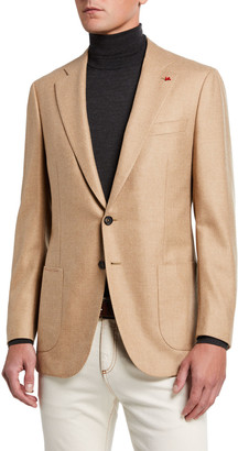 Isaia Men's Two-Button Twill Blazer