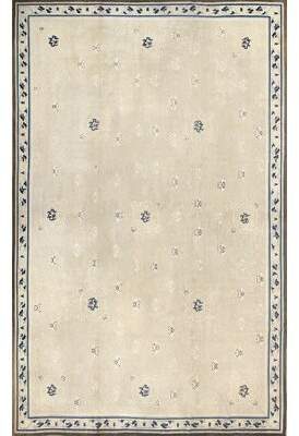 Blue & Cream Nazmiyal Collection Chinese Beautiful Ivory Chinese Antique Blue/Cream Area Rug Nazmiyal Collection
