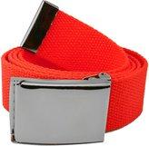 Build A Belt Wide 1.5 Pewter Flip Top Men's Belt Buckle with Canvas Web Belt Medium Navy
