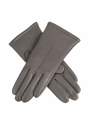 Dents Ginny Women's Single Point Leather Gloves CHARCOAL L