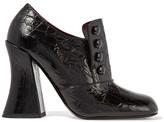 Marc Jacobs Juno Croc-effect Leather Pumps - Black