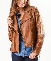 Paparazzi Macchiato Faux Leather Moto Jacket