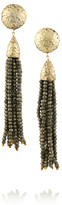 Rosantica Cascata gold-dipped pyrite clip earrings