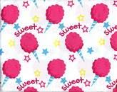 Cotton Candy 3-Piece Girls Twin Sheet Set Stars Sweet Cotton Candy Sheets