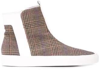Alberto Fermani plaid ankle boots