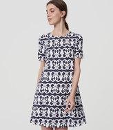 LOFT Vineyard Stripe Swing Dress