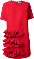 MSGM ruffle detail dress - women - Elastodiene/Polyester/Viscose - 40