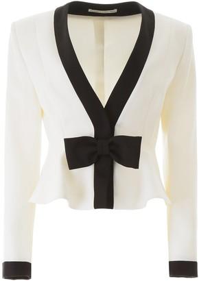 Alessandra Rich Bow Peplum Jacket