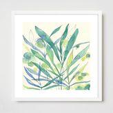 west elm Framed Print - Blue Seaweed