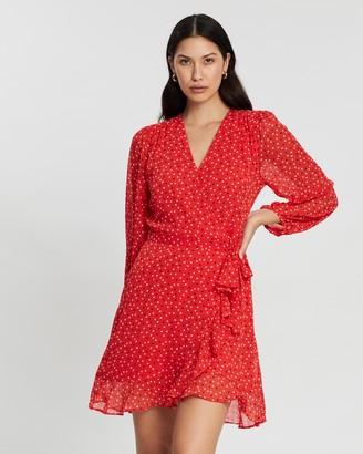 Banana Republic LS Ruffle Print Dress