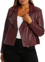 Jacket Leather With Ponte