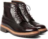 Grenson - Sebastian Polished-leather Brogue Boots