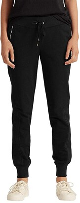 Lauren Ralph Lauren Cotton Jogger Pants (Polo Black) Women's Casual Pants