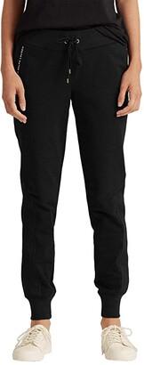 Lauren Ralph Lauren Cotton Jogger Pants (Polo Black) Women's Casual Pants