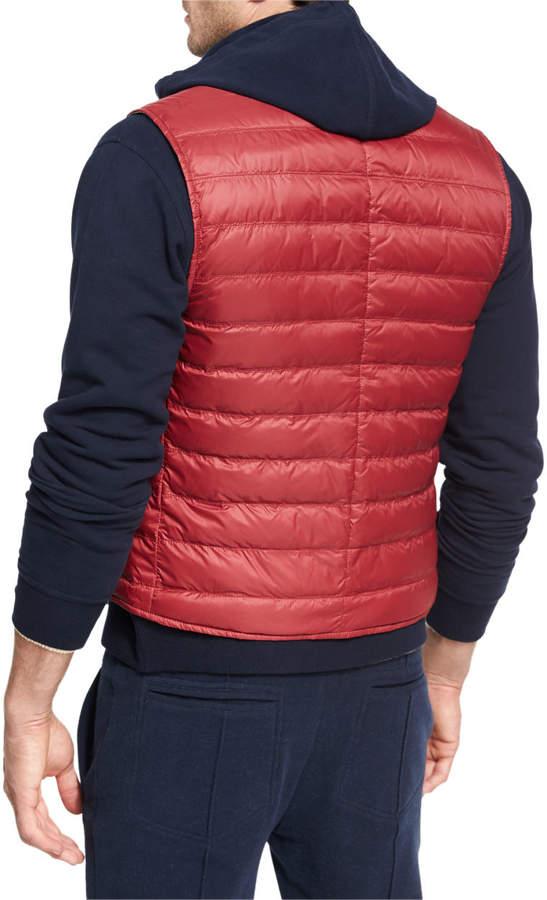Brunello Cucinelli Quilted Nylon Snap Vest