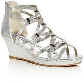 Steve Madden Girls' Metallic Caged Wedge Sandals