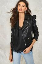 Nasty Gal nastygal Elena Vegan Leather Moto Jacket