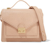 Loeffler Randall Rider Medium Lizard-effect Leather Shoulder Bag - Blush