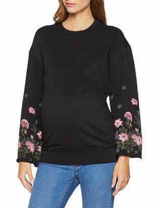 SUPERMOM Women's Sweater ls Flower Sleeve Maternity Jumper