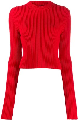 Bottega Veneta Cropped Knitted Jumper