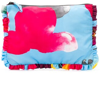 La DoubleJ Floral Zipped Clutch