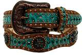 Ariat Women's 1/2'' Scallop Floral Embossed Concho Belt