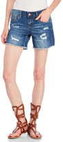 Dollhouse Distressed Denim Boyfriend Shorts