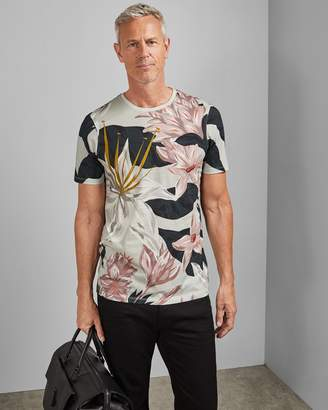 Ted Baker Tall Floral Print Cotton T-shirt