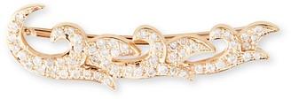 Sara Weinstock French Tulip 18K Rose Gold Diamond Single Crawler Earring