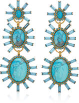 Elizabeth Cole Monet 24K Gold-Plated, Crystal And Howlite Earrings
