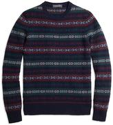Brooks Brothers Cashmere Fair Isle Crewneck Sweater