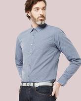 RACCOON Debonair hexagon print shirt