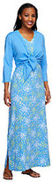 Denim & Co. As Is Perfect Jersey Printed Maxi Dress with Shrug