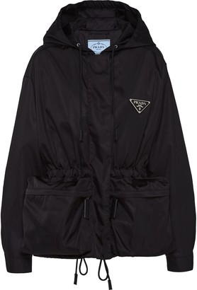 Prada Oversized Drawstring Zipped Jacket