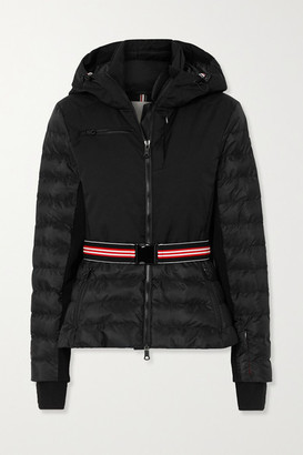 Erin Snow Kat Hooded Belted Quilted Ski Jacket - Black