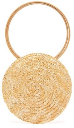 Eliurpi - Circle Mini Woven-straw Bag - Beige