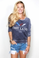 Rebel Yell C'est La Vie Lil Sis Lounger in Navy