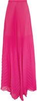 MSGM Plissé-crepe maxi skirt
