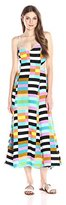 Mara Hoffman Women's Flag Stripe Rainbow Maxi Dress
